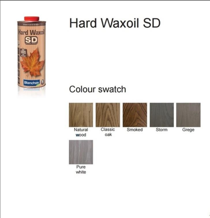 Blanchon Hardwax Oil SD, Pure White, 0.25 L Image 2
