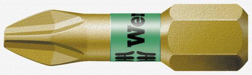 Wera Philips Bi-Torsion Extra Hard Screwdriver Bit, PH2 x 25mm, pack of 10 Image 1