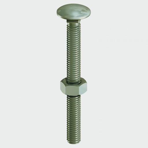 In-Dex Coach Bolt, Nut & Washer, 10x100 mm, 10 pk Image 1