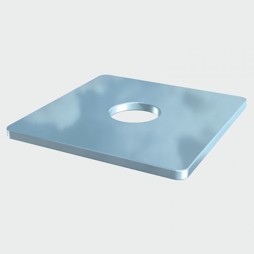 Square Plate Washer, M10, M10x50x50x3 mm Image 1