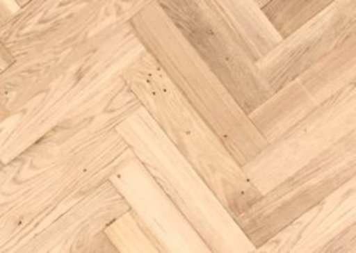 Tradition Classics Solid Oak Parquet Flooring Blocks, Unfinished, Rustic, 22x70x350 mm Image 1