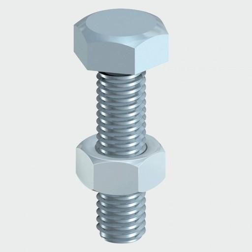 Hex Bolt & Nut, 12x100 mm, 2 pk Image 1