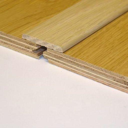 Unfinished Solid Oak Flat Threshold 43x5 mm, 2.7 m Image 1
