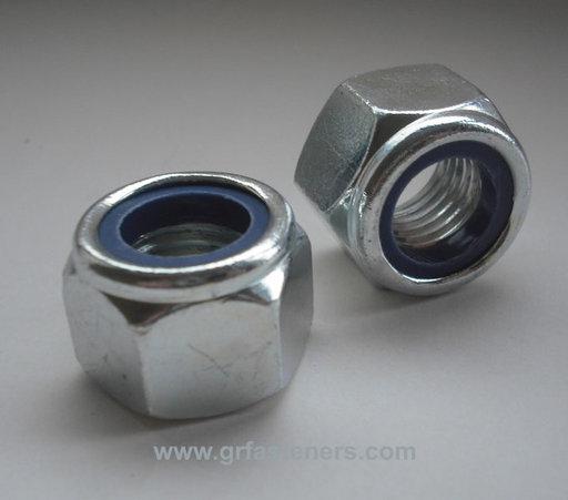 P Nylon Nut - BZP, M12, 4 pk Image 1