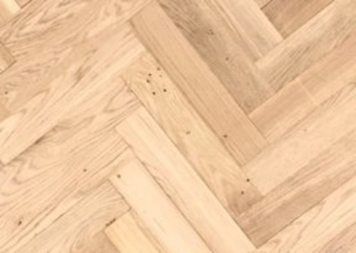 Tradition Classics Solid Oak Overlay Parquet Flooring, Unfinished, Rustic, 10x70x350 mm Image 1