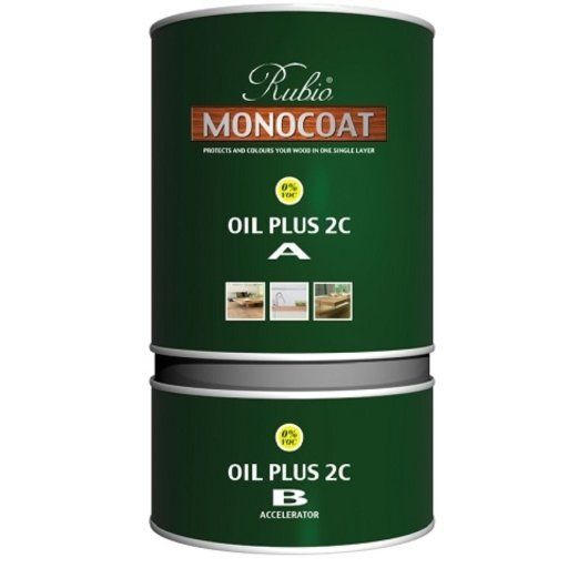 Rubio Monocoat Oil Plus 2C, Charcoal, 1.3 L Image 1