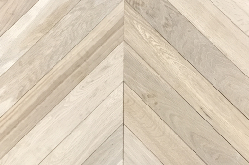 Tradition Classics Chevron Engineered Oak Flooring, Rustic, Unfinished, 90x15x540 mm Image 1