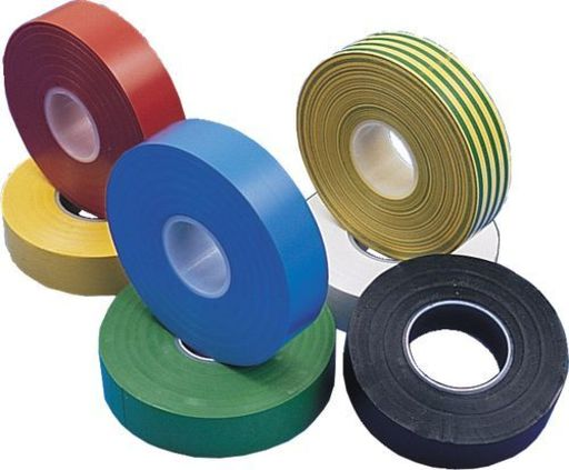 Insulation Tape, Green & Yellow, 19 mm, 33 m Image 2