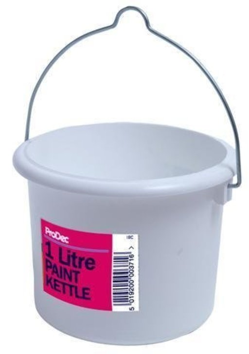 Plastic Paint Can with Lid, 1L Image 1