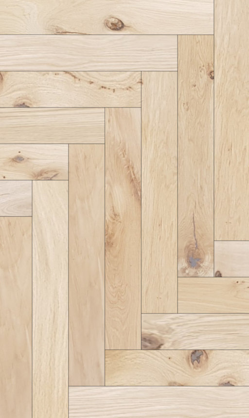 Tradition Classics Herringbone Engineered Oak Flooring, Rustic, Unfinished, 120x15.4x600 mm Image 1