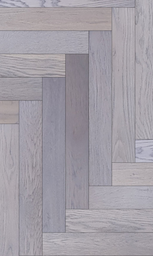 Tradition Classics Herringbone Engineered Oak Flooring, Rustic, Grey Oiled, 120x15.4x600 mm Image 1
