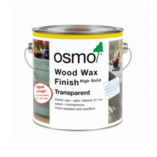 Osmo Wood Wax Finish Transparent, White-Matt, 2.5L Image 1