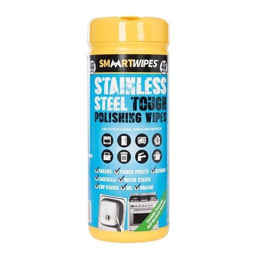 Stainless Steel Tough Polishing Wipes, 40 pcs Image 1