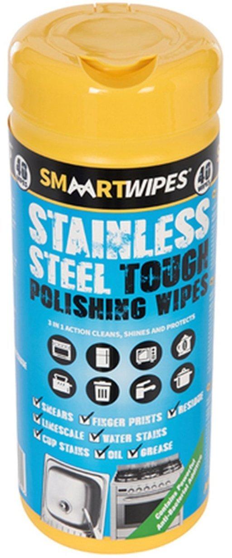 Stainless Steel Tough Polishing Wipes, 40 pcs Image 2