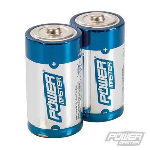 Powermaster C-Type Super Alkaline Battery LR14 2pk Image 1