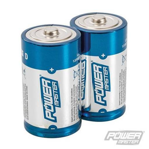 Powermaster D-Type Super Alkaline Battery LR20 2pk Image 1