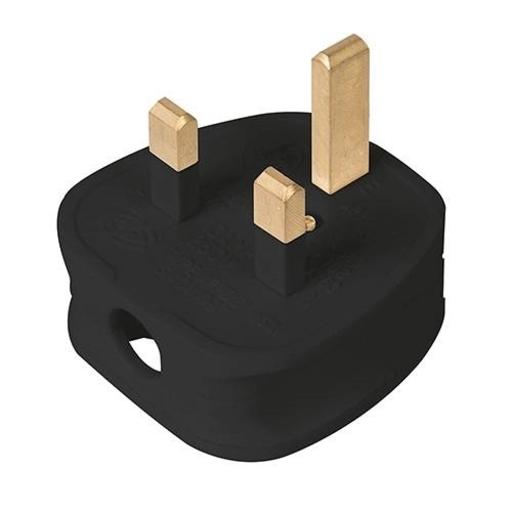 Fused Plug, 13A, Black Image 1