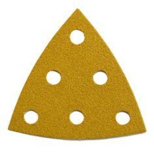 Starcke 120G Sanding Triangles, 88 x 93 mm, 6 Holes Round, Velcro Image 1