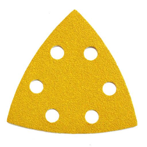 Starcke 80G Sanding Triangles, 88 x 93 mm, 6 Holes Round, Velcro Image 1