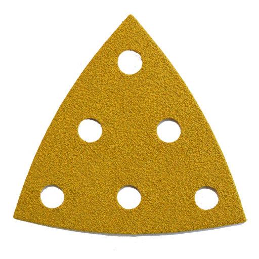 Starcke 80G Sanding Triangles, 88 x 95 mm, 6 Holes, Velcro Image 1