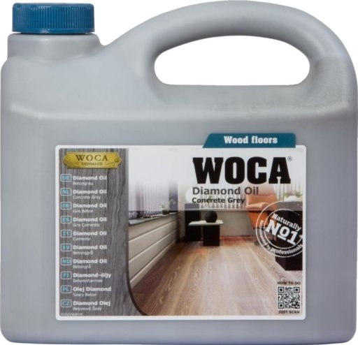 WOCA Diamond Oil, Concrete Grey, 2.5L Image 1