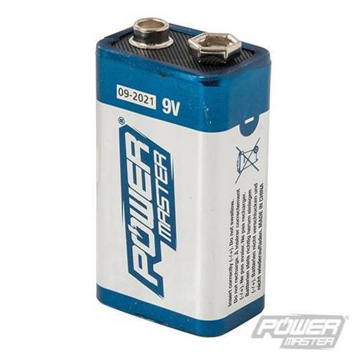 Powermaster 9V Super Alkaline Battery 6LR61 Image 1