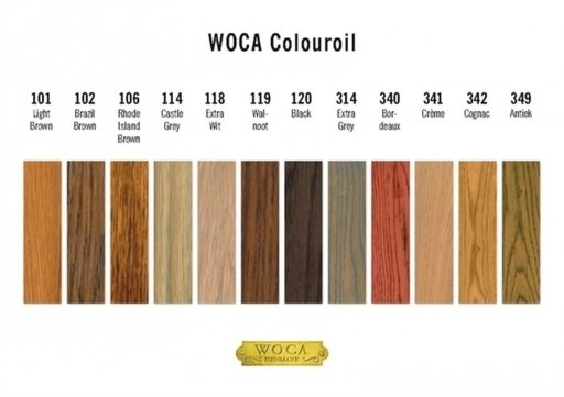 WOCA Colour Oil 120, Black, Sample Sachet 5ml Image 2