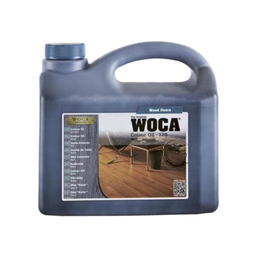 WOCA Colour Oil 120, Black, 2.5L Image 1