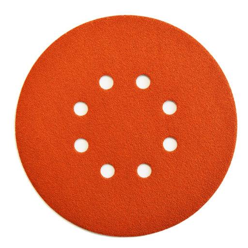 Starcke 40G Sanding Discs, 125 mm, 8 Holes, Velcro Image 1
