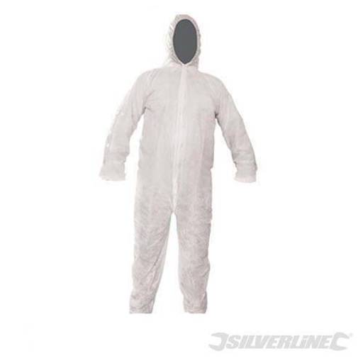 Disposable Overall, White, Size XL Image 1