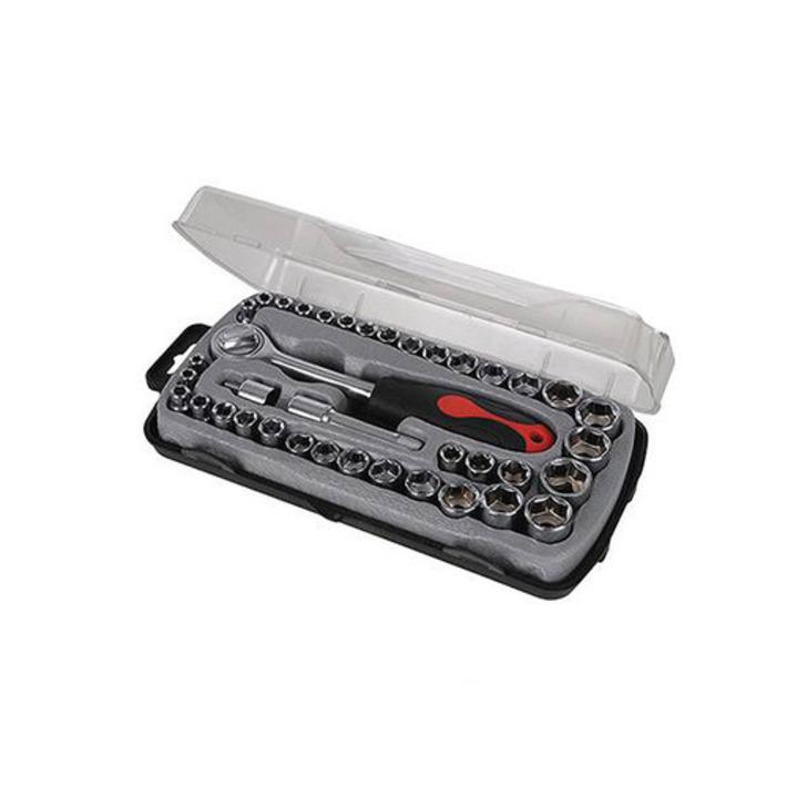 Silverline Compact Socket Set, 39 pcs Image 1