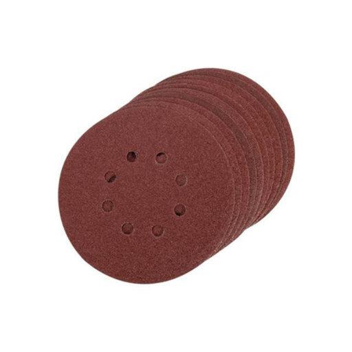 Silverline Single Sided Sanding Disc, 80G ,150 mm, Velcro Image 1