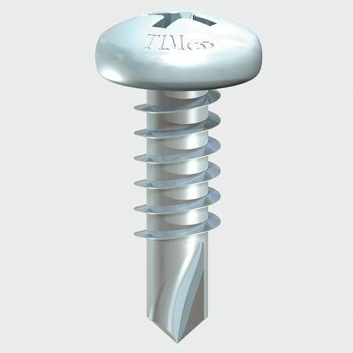 Pan Head Self Drill Screw, 4.2x25 mm, 200 pk Image 1