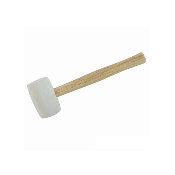 Silverline White Rubber Mallet, 24 oz Image 1