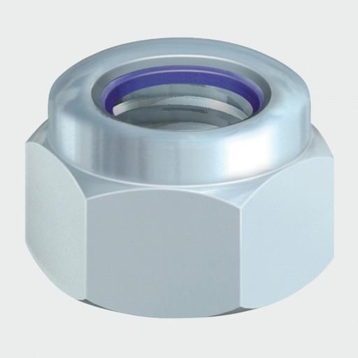 P Nylon Nut - BZP, M8, 10 pk Image 1