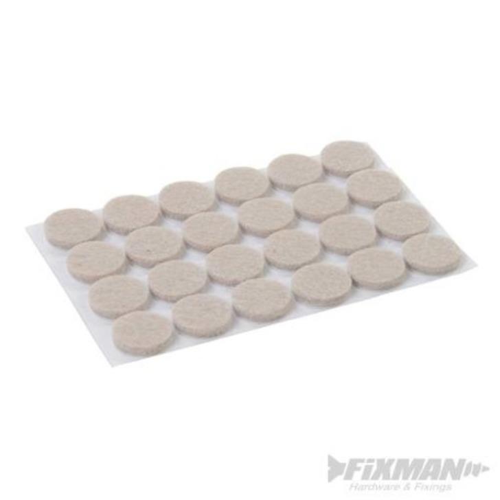 Self-Adhesive Felt Pad Protectors, 20 mm, 24 pcs Image 1