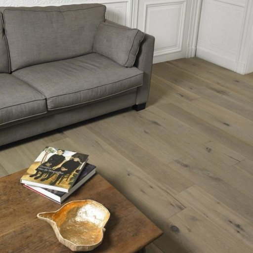 Tradition Classics Merlot Engineered Oak Flooring, Smoked, Distressed, Grey Oiled, 15x190x1900 mm Image 1