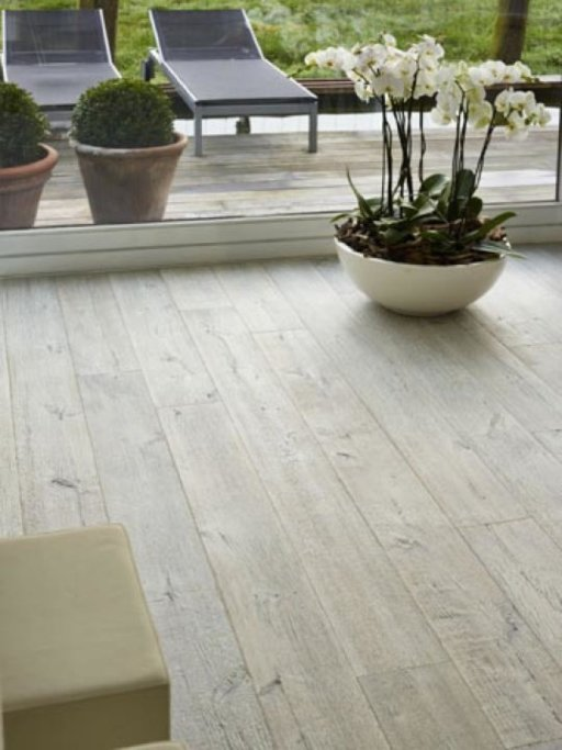 Tradition Classics Vouvray Engineered Oak Flooring, Smoked, Brushed, Handscraped, White Oiled, 15x190x1900 mm Image 1