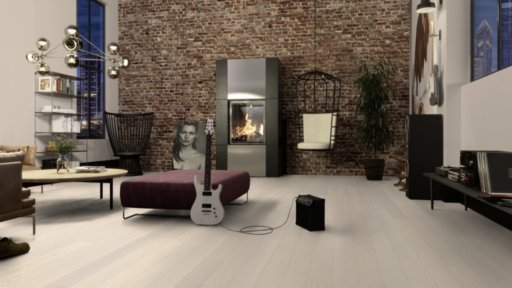 Boen Andante Ash Engineered Flooring, White Stained, Live Pure Lacquered, 138x3.5x14 mm Image 2