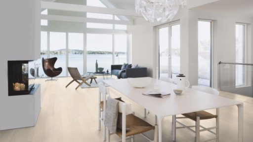 Boen Andante Ash Engineered Flooring, White Stained, Live Pure Lacquered, 138x3.5x14 mm Image 3