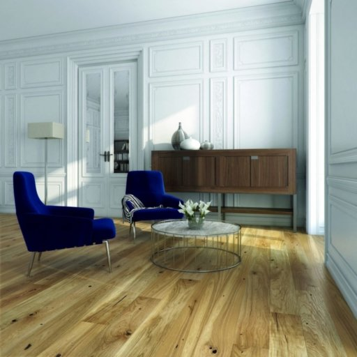 V4 Engineered Oak Flooring, Rustic, Brushed Stained & Matt Lacquered, 180x14x2200 mm Image 1