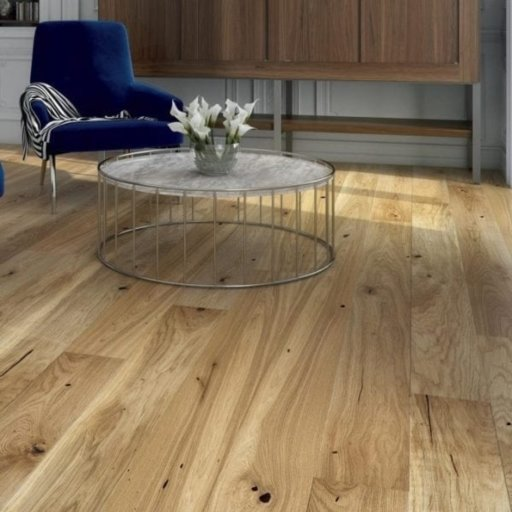 V4 Engineered Oak Flooring, Rustic, Brushed Stained & Matt Lacquered, 180x14x2200 mm Image 2