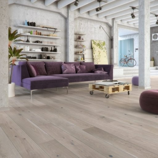 V4 Fjordic Shore Engineered Oak Flooring, Rustic, Brushed Natural Stained & Matt Lacquered, 180x14x2200 mm Image 1