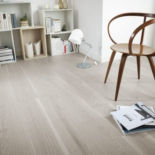 V4 Silver Sands Engineered Oak Flooring, Rustic, Brushed Natural Stained & Matt Lacquered, 180x14x2200 mm Image 1