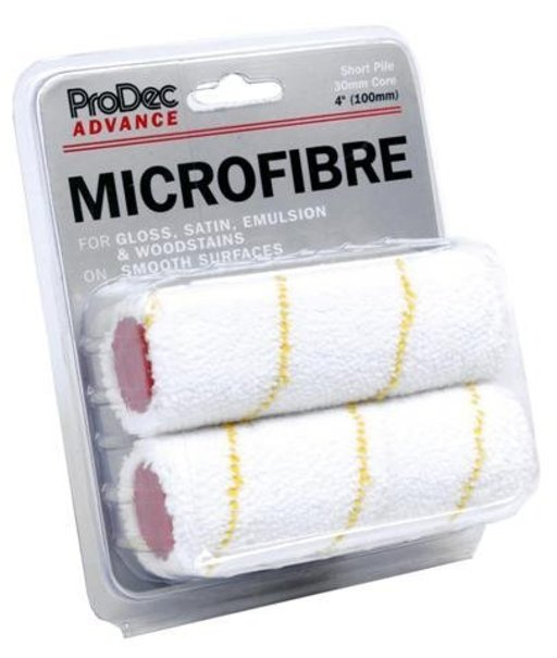 ProDec Short Pile Microfibre Roller Refills, 100 mm, 2 pcs Image 1