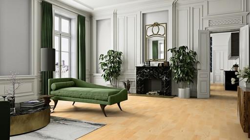 Boen Andante Ash Engineered 3-Strip Flooring, Matt Lacquered, 215x3x14 mm Image 1