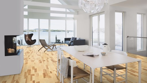 Boen Marcato Ash Engineered 3-Strip Flooring, Live Natural Oiled, 215x3x14 mm Image 2