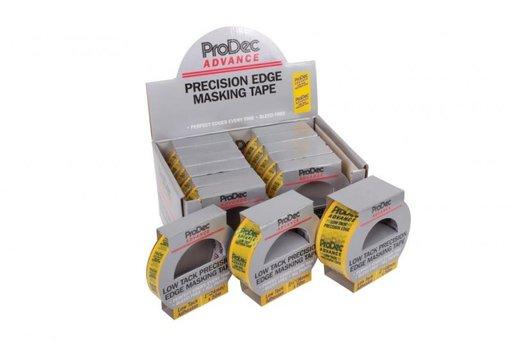 Low Tack Precision Masking Tape, Yellow, 24 mm, 50 m Image 1