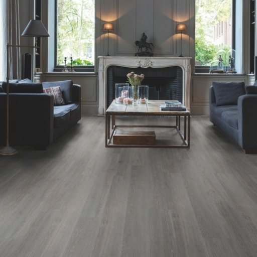 QuickStep Livyn Balance Click Plus Silk Oak Dark Grey Vinyl Flooring Image 1