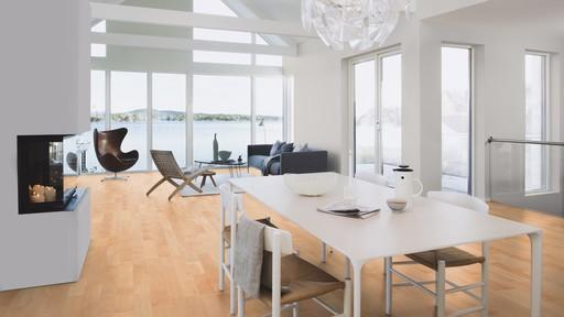 Boen Andante Beech Engineered 3-Strip Flooring, Matt Lacquered, 215x3x14 mm Image 1